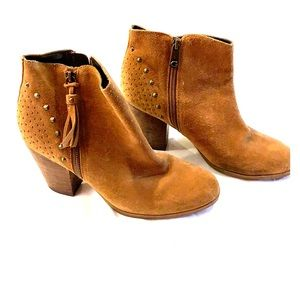 Guess tan leather booties